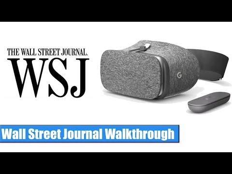 Google Daydream VR: Wall Street Journal Walkthrough / Hands-On