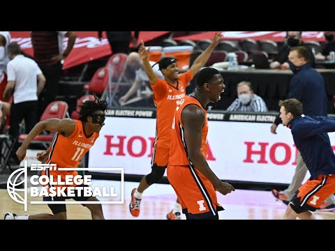 No. 4 Illinois comes up big late to beat No. 7 Ohio State [HIGHLIGHTS]   ESPN College Basketball