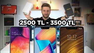 2500 - 3500 TL arası en iyi akıllı telefonlar 2019