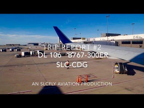 (HD) [TRIP REPORT] Economy | DELTA AIRLINES 106 | SALT LAKE CITY-PARIS | B767-300ER