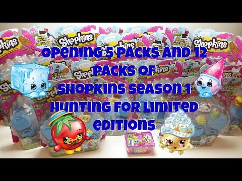 SEASON 1 SHOPKINS SOLD OUT PACKS OPENING FROZENS ULTRA RARES GOING FOR LIMITED EDITIONS