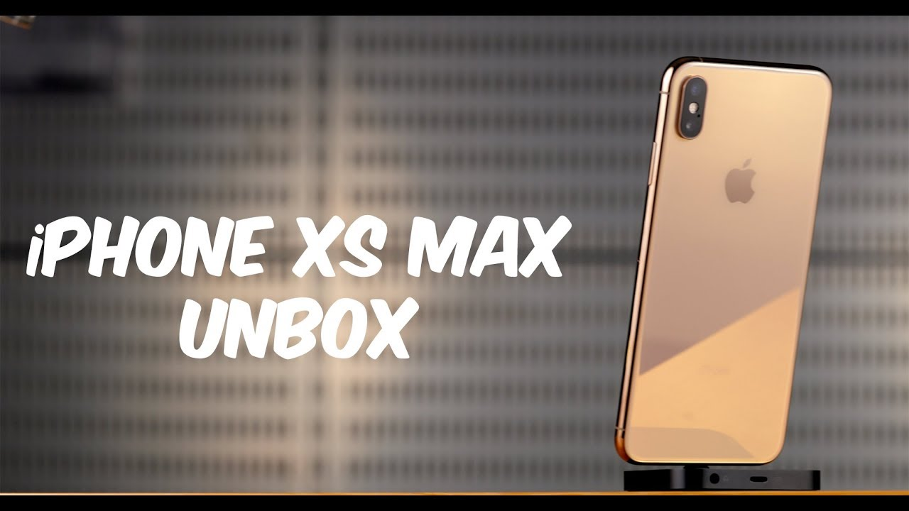 Unboxing The iPhone XS Max Gold
