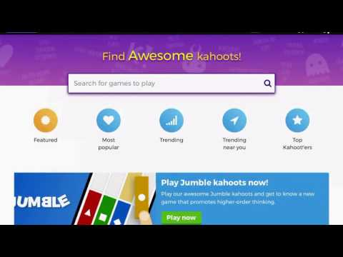 Kahoot, search a game
