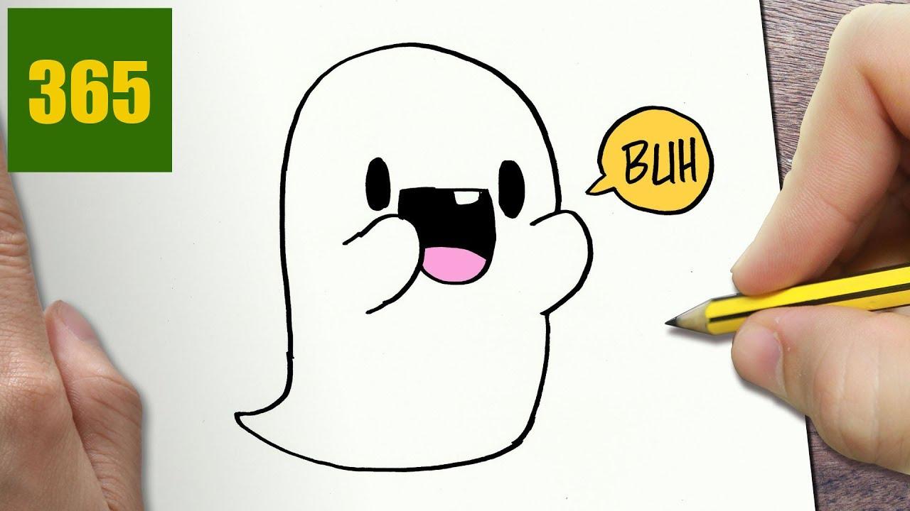 Come Disegnare Fantasma Kawaii Passo Dopo Passo Disegni Kawaii