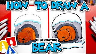 How To Draw A Hibernating Bear