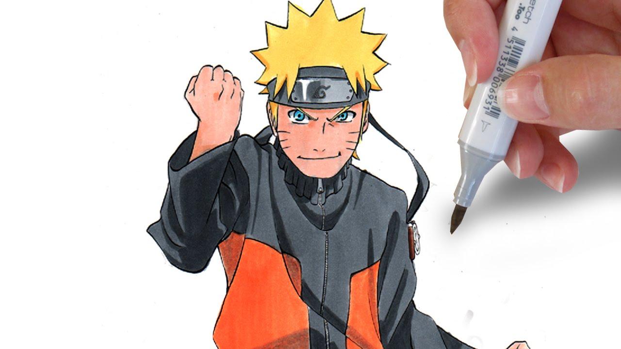 How to draw Naruto Uzumaki - YouTube