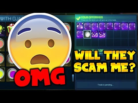 LENDING PLAYERS MY MYSTERY DECALS! - WILL THEY SCAM ME? | Rocket League Social Experiment