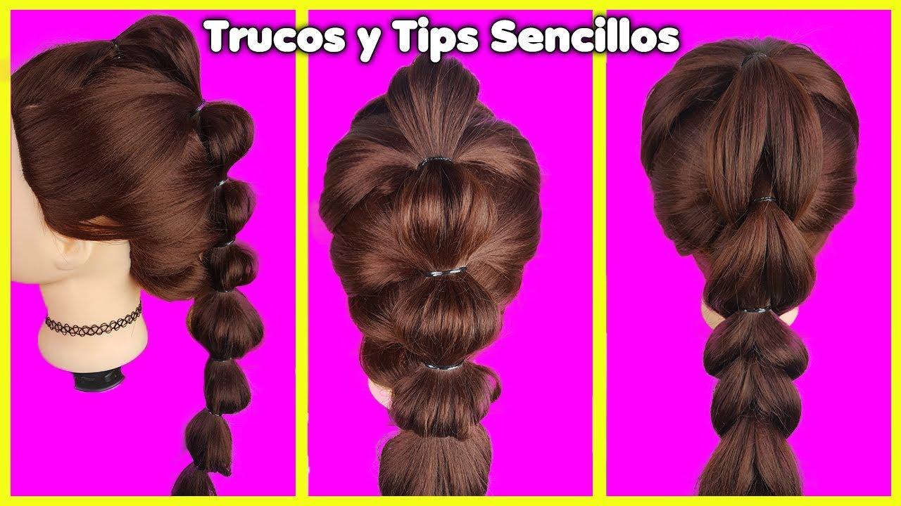Peinados Rapidos Y Faciles Para Uso Diario Youtube