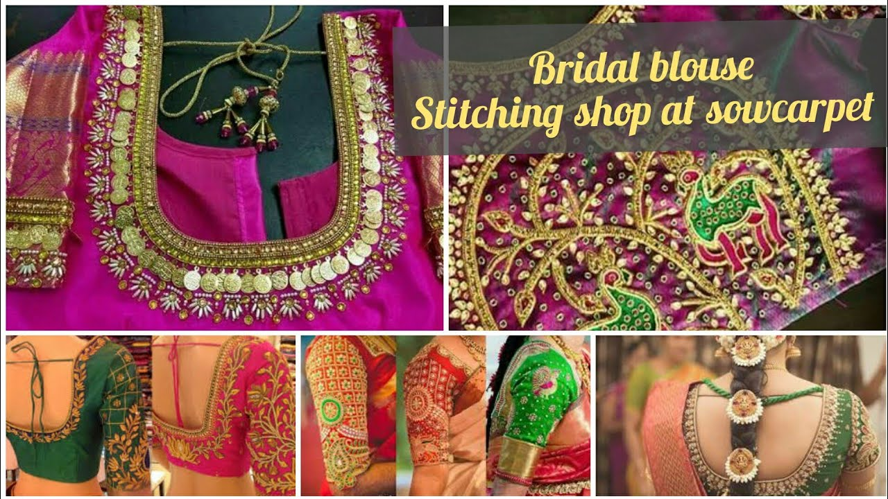 17b79c5f774562 Bridal Aari blouse making and stitching tailor shop at sowcarpet  where to  stitch bridal blouse