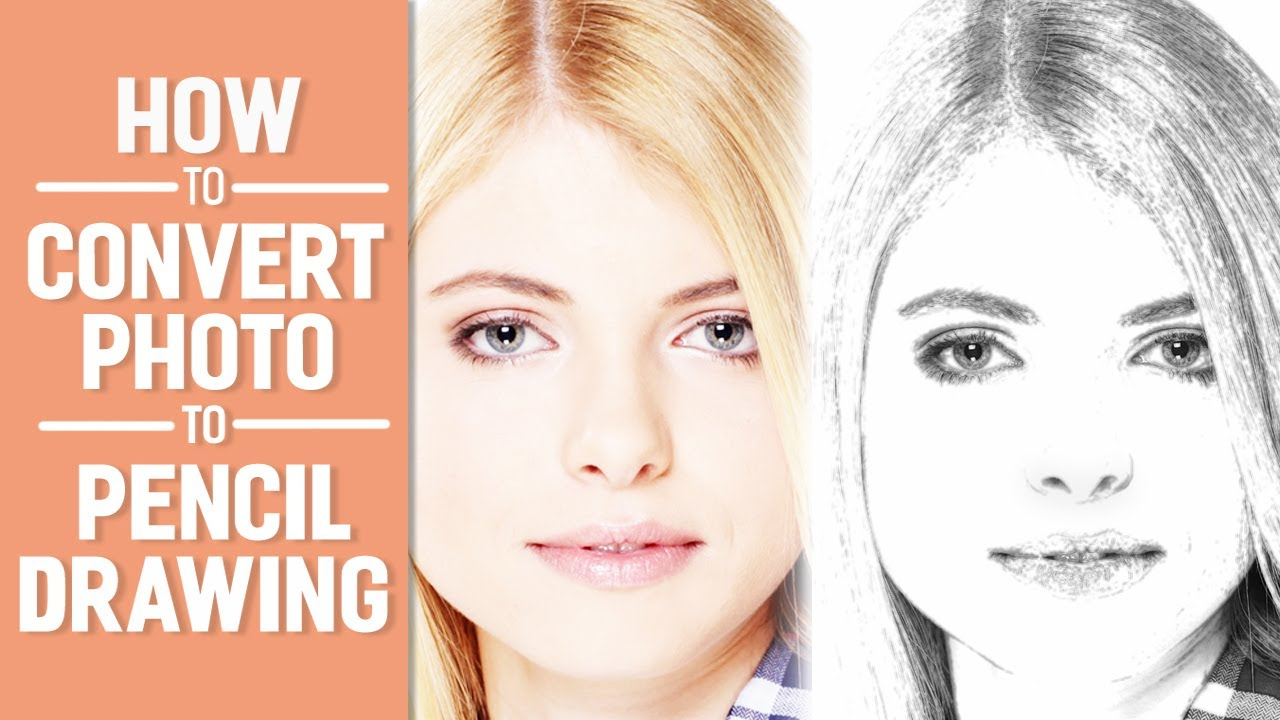 How to convert photo to pencil drawing