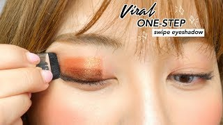 "VIRAL INSTAGRAM ""ONE-SWIPE"" EYESHADOW Review (finally)"