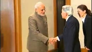 PM Modi meets the Emperor of Japan, His Majesty Akihito in Tokyo