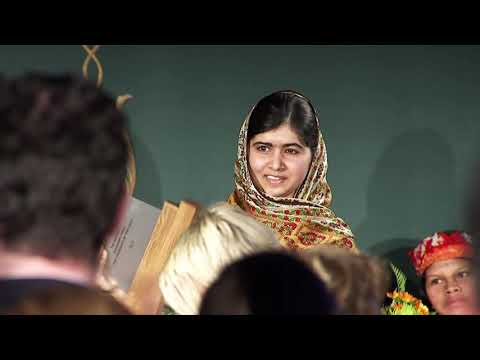 Malala Yousafzai, World's Children's Prize Child Rights Hero, Accepts Her Award