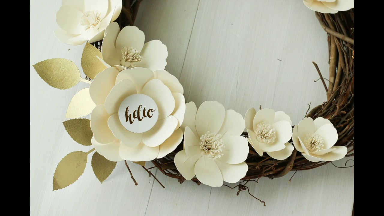 Cutting Paper Flowers With Your Cricut Youtube