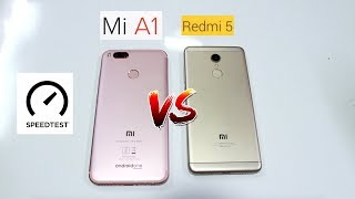 Xiaomi Redmi 5 VS Xiaomi MIA1 -  Speedtest & Comparison