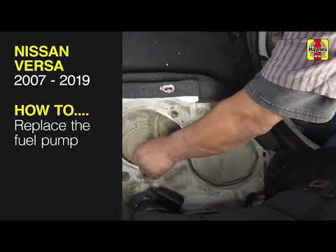 How to Replace the fuel pump on a Nissan Versa 2007 to 2019