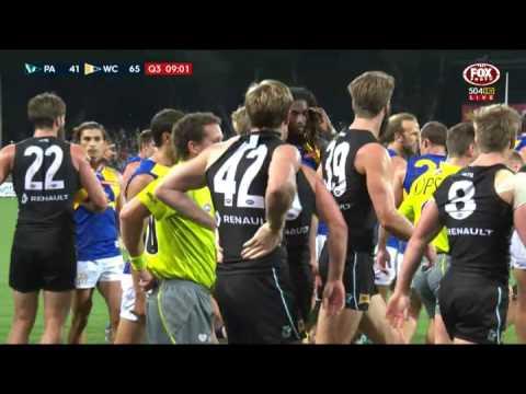 Jonas elbow KO's Gaff - AFL