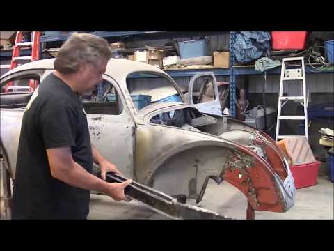 1956 Volkswagen Oval Bug Beetle Restoration Update, Rust Cut Out, New Steel In, lastchanceautoresto