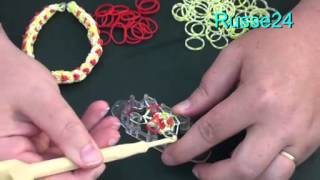 Урок плетения браслета из резиночек с сердечками