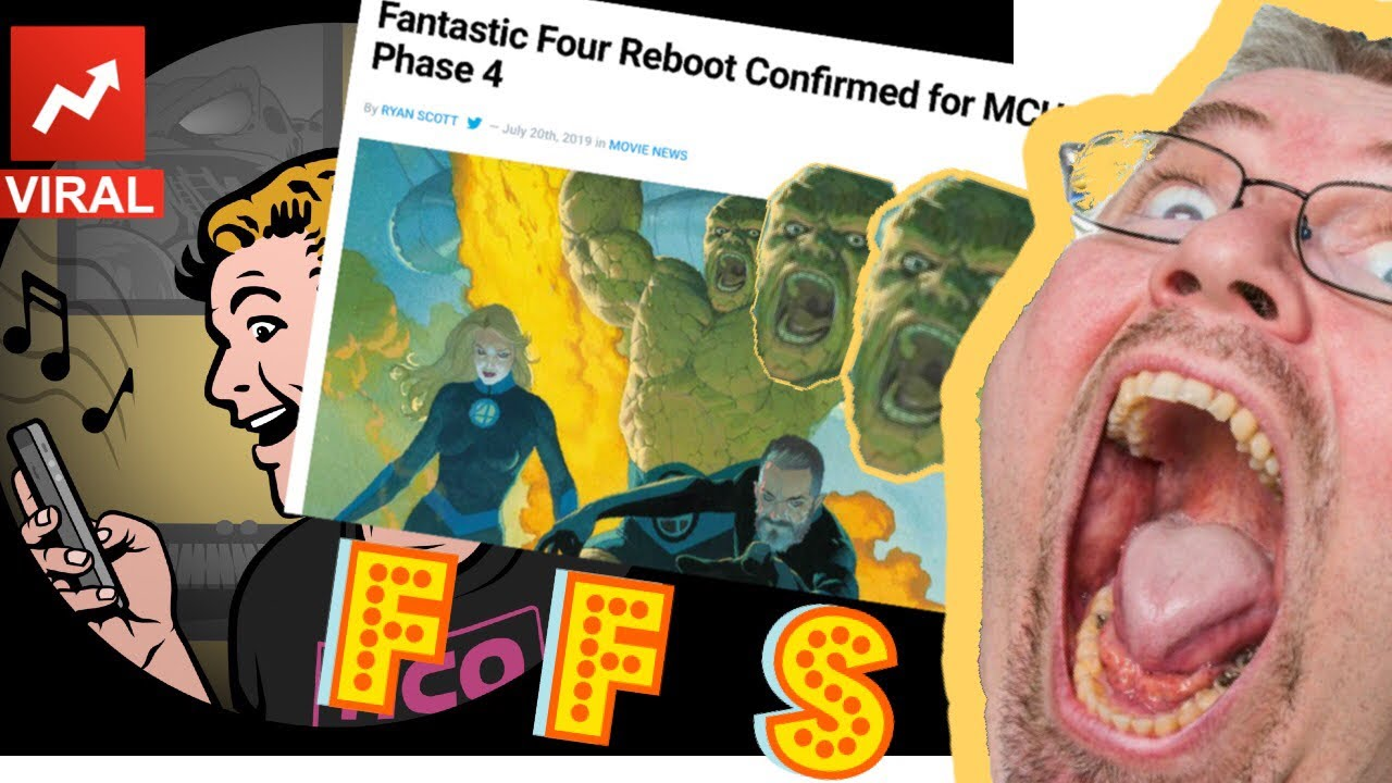 EVS: FFS! Disney MCU's FANTASTIC FOUR is on the way! Exposure to Cosmic Soy imminent!