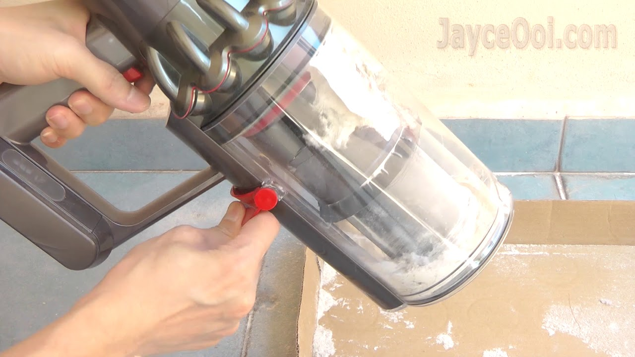 how to empty dyson v10 absolute dust bin extreme test. Black Bedroom Furniture Sets. Home Design Ideas