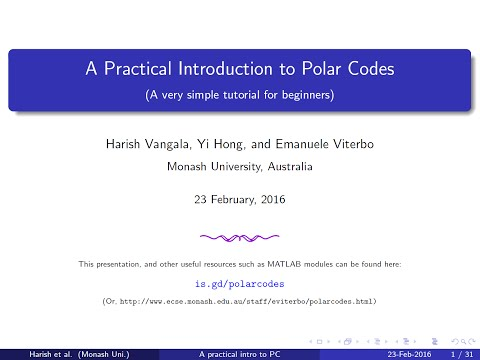 Polar Codes Part 4 of 4: The Decoding