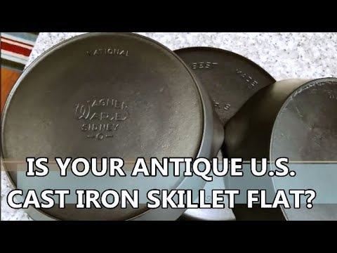 How Flat Is Your U.S. Antique Cast Iron Skillet?