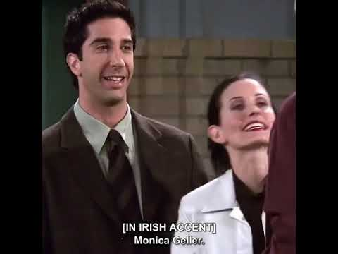 Download Friends... Monica's fake accent🤣😂...