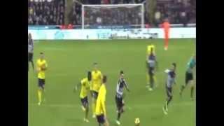 Yoan Gouffran Goal - Newcastle Vs Southampton 1-2 [17/1/2015] Premier League