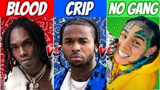 BLOOD RAPPERS vs CRIP RAPPERS vs NO GANG RAPPERS! (2020)