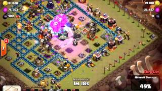 clash of clans lebo 3 star against th 10, max wall, max hero, max everything