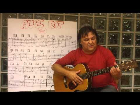 Fingerstyle Guitar Lesson #39: ALLES ROT (Silly)
