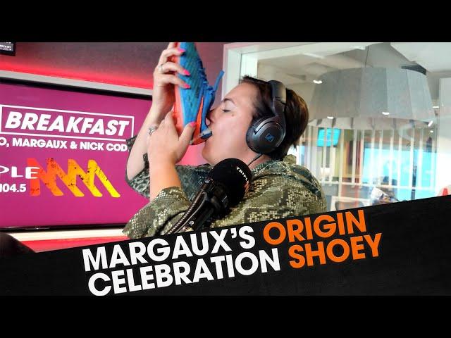Margaux's Origin Celebration Shoey | The Big Breakfast