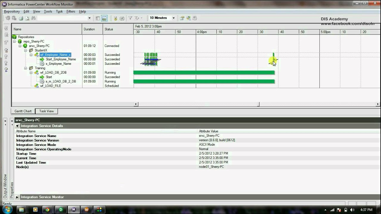 Informatica Tutorial 1 7 - Schedule and Monitor Workflow