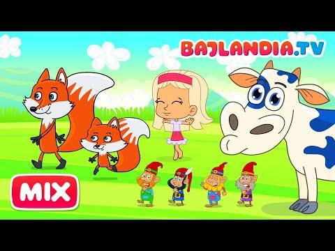 MEGA Zestaw 1 GODZINA - Wszystkie PIOSENKI Dla Dzieci Z Kanału Bajlandia.tv