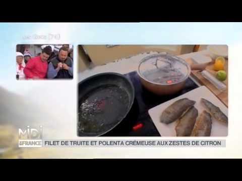 RECETTE : Filets De Truite Et Polenta Crémeuse Aux Zestes De Citron