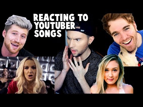 Thumbnail: REACTING TO YOUTUBER SONGS