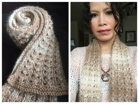 Learn To Knit Easy Lace Scarf From Start To Finish