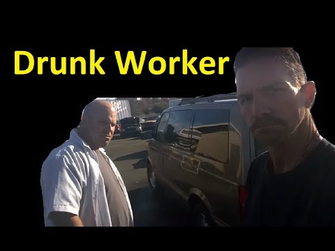 New Worker Drunk Work Vlog ~ Scrapping Cars ~ What a Joke