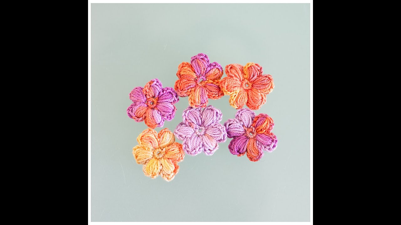 Tuto comment faire une jolie fleur gonfl e au crochet youtube - Faire une fleur ...