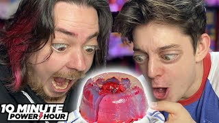 Gelatin Art!! ft. CrankGameplays! - 10 Minute Power Hour