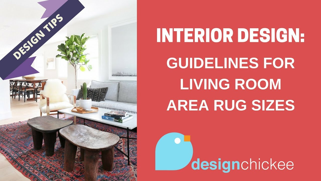 Interior Design Tips: Guidelines for living room area rug sizes