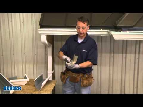Installing Mitered Gutter Corners Youtube