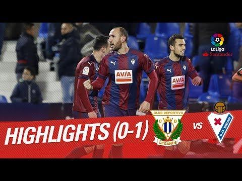 Resumen de CD Leganés vs SD Eibar (0-1)