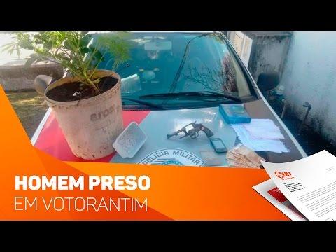 Homem preso em Votorantim - TV SOROCABA/SBT