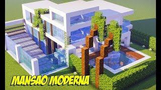 Minecraft Tutorial - MANSÃO MODERNA SUBTERRÂNEA ‹ Manyzão#1Milhão ›