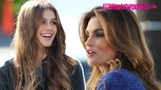 Cindy Crawford Takes Her Daughter Kaia Gerber To Work - TheHollywoodFix.com