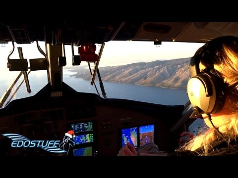 European Coastal Airlines DHC-6-300 - Full Flight with Cockpit Views - Jelsa to Resnik FULL HD