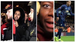 #manutd #jesselingard Jesse Lingard moonwalk celebration and angry arsenal fans