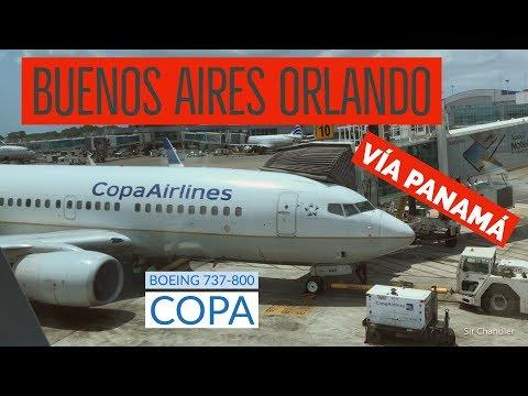 Vuelo desde Buenos Aires a Orlando vía Panamá con COPA
